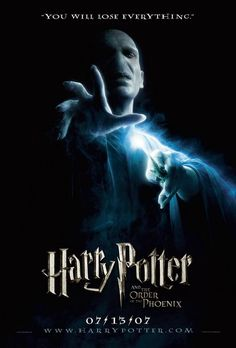 """Harry Potter and the Order of the Phoenix. """"You will lose everything."""""""