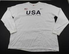 Nike Team USA Track and Field USATF Shirt Olympics Mens XL Crewneck Long Sleeve #Nike #GraphicTee