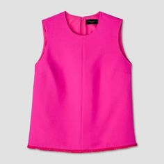 Victoria Beckham for Target Womens' Fuchsia Twill Tank Top, $26