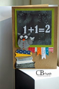 teachers day card making CB Paper: Geklaut, weil absolut s. Teacher Card made with Stampin Up! Teacher Appreciation Cards, Teacher Cards, Tarjetas Stampin Up, Stampin Up Cards, Daddy Birthday Card, Birthday Cards, Diy Birthday, Owl Punch Cards, Teachers Day Gifts