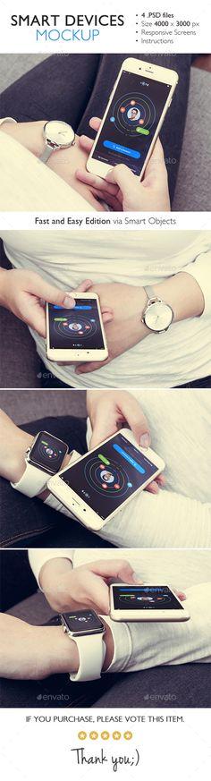 Smart Devices Mockup (Displays)