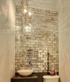 12 12 mirror tiles silver mirrored mirror bevelled wall tiles more 12 x 12 square mirror tiles Antique Mirror Tiles, Mirror Wall Tiles, Antiqued Mirror, Antique Mirror Splashback, Decorative Mirrors, Mirror Backsplash, Bathroom Glass Wall, Mirrored Tile Bathroom, Mirrored Walls