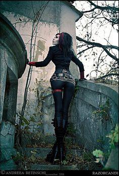 sexy dark fashion goth black #gothic princess