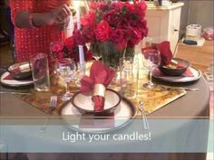 Looking to create a romantic #TableSetting? Check this out! #BringOnTheRomance https://www.youtube.com/watch?v=cwCYNxsSteA