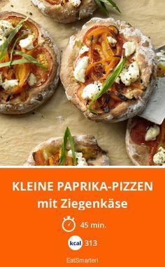 Kleine Paprika-Pizzen - mit Ziegenkäse - smarter - Kalorien: 313 Kcal - Zeit: 45 Min.   eatsmarter.de