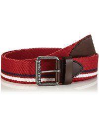 Tommy Jeans Hilfiger Denim Herren Gürtel Striped webbing belt 6, Gr. 105  cm, Blau (NAVY BLAZER-PT 416)  Amazon.de  Bekleidung d0e22e2792