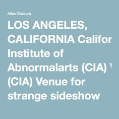 LOS ANGELES, CALIFORNIA California Institute of Abnormalarts (CIA) Venue for strange sideshow displays and musical acts