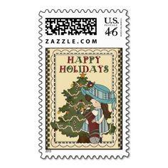 Christmas Girl stamp