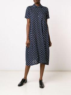 Comme Des Garçons Comme Des Garçons свободное платье-рубашка в горошек