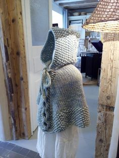 Wry Cable Poncho with hood Size: - - months - 2 - years Size in cm.: - - - - Yarn: The wool that work with the needle size 8 mm. Handmade Clothes, Handmade Gifts, 4 Years, 18 Months, Knitting Patterns, Cable, Pdf, Wool, Trending Outfits