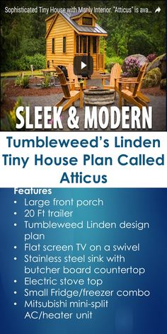 Tumbleweed's Linden Tiny House Plan Called Atticus | Tiny Quality Homes