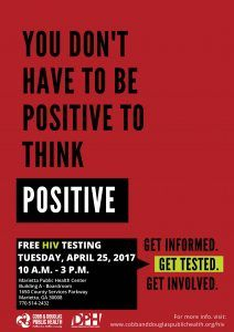 Get to Know Your Status with Cobb & Douglas Public Health on April 25 – Free HIV Testing in Honor of National STD Awareness Month - Cobb & Douglas Public Health