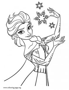 Disney's Frozen Free Coloring Pages #free