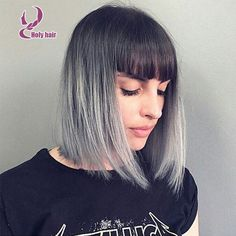 Grey ombre human hair lace front wig 8a brazilian virgin hair straight glueless full lace bob wigs with bangs http://www.aliexpress.com/item/Grey-ombre-human-hair-lace-front-wig-8a-brazilian-virgin-hair-straight-glueless-full-lace-bob/32495747949.html?spm=0.0.0.0.8106N7