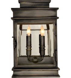 Visual Comfort E.F. Chapman 2 Light Outdoor Wall Lantern in Bronze CHO2908BZ #visualcomfort #lightingnewyork #lighting