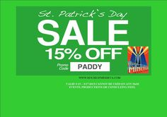 15% OFF OUR ENTIRE SITE. promocode: PADDY