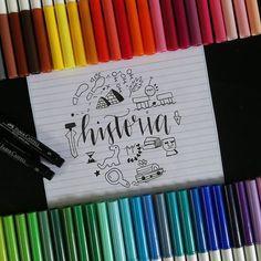 Bullet Journal School, Bullet Journal Tracker, School Suplies, Stabilo Boss, School Notebooks, Beautiful Notes, Study Planner, Cute Notes, Lettering Tutorial