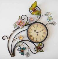 Metal Wall Art - Butterfly Wall Clock