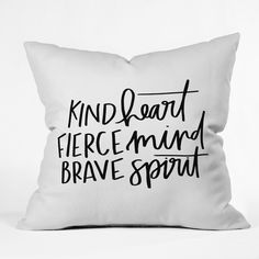 Black And White Quote Throw Pillow - Deny Designs, Black/White Black And White Pillows, White Throws, White Throw Pillows, Bed Pillows, Classroom Wall Quotes, Black & White Quotes, Black White, No Sew Pillow Covers, Pillows