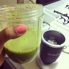 My 3rd time drinking Mean Green juice.  I hope I get used to it. #food #healthy #nutribullet #breakfast #nutriblast