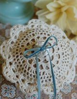 diy ring bearer pillow out of doily