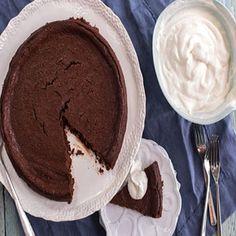 Flourless Chocolate Torte made with Stonyfield Organic Low Fat Plain Yogurt