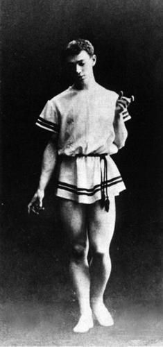 Vaslav Nijinsky in 'Eunice' choreographed by Mikhail Fokine