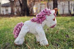 Hand Crochet Unicorn Doll by LemonBerryCrochet on Etsy, $25.00