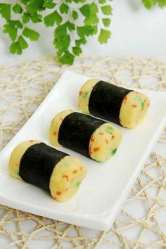 Khoai tây nghiền cuộn rong biển 1