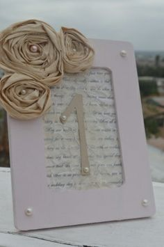 Vintage table number frames