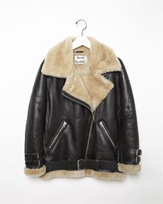 ACNE STUDIOS | Velocite Shearling Moto Jacket | Shop at La Garçonne