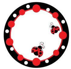 Imprimible Ladybug Party, Clip Art, Borders And Frames, Love Bugs, Printable Paper, San Antonio, Creations, Scrapbooking, Stationery