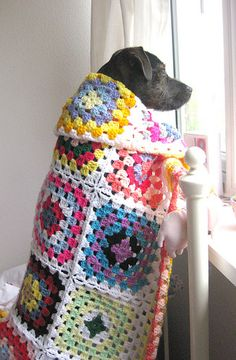 Granny square blanket (no pattern) Crochet Diy, Manta Crochet, Love Crochet, Crochet Square Pattern, Crochet Patterns, Grannies Crochet, Cotton Cord, Afghan Blanket, Square Blanket