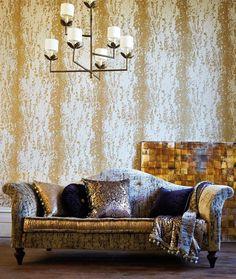 This is Harlequin's Eglomise wallpaper design isn't it wonderful.