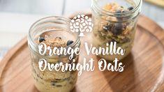 Oats Recipes, Sweets Recipes, Whole Food Recipes, Cooking Recipes, Vanilla Overnight Oats, Easy Overnight Oats, Healthy Make Ahead Breakfast, Breakfast Recipes, Florida Oranges