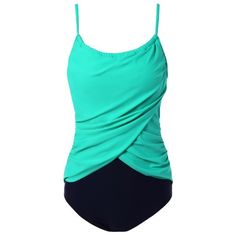 15.76$  Buy here - http://di09n.justgood.pw/go.php?t=206962205 - Plus Size Ruched Padded Swimwear 15.76$