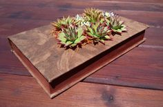 The book in kraft paper is decorated with handcrafted succulents (polymer clay). Author's work