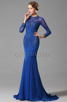 eDressit Long Sleeves Lace Evening Dress Formal Gown (02150205)