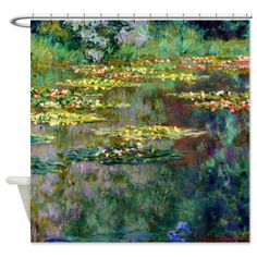 CafePress Monet - Le Bassin Shower Curtain - Standard White