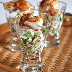 This is another recipe made from our gift of Breton Scallops . For this one, I wanted something lighter, with some Asian flavors. I had some...