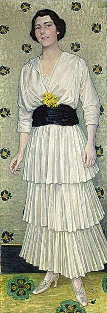 ▴ Artistic Accessories ▴ clothes, jewelry, hats in art - Wilhelm List   Portrait of Mevrouw Nijhoff-Seldorff