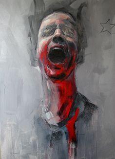 Jonny Burt: Ryan Hewett Painter: Screaming for Freedom Abstract Portrait, Portrait Art, Gcse Art Sketchbook, Arte Obscura, Arte Horror, Expressive Art, A Level Art, Wow Art, Human Art