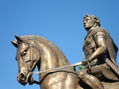 Statue of Alexander the Great Giannitsa Pella #Macedonia #Greece - Alexander the Great wearing the royal diadem and the ram's horn that marked him as the son of Zeus