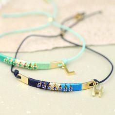 Personalised Diamanté Bar Friendship Bracelet