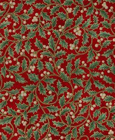 Holiday Serenade Holly Swirl on Scarlet by Hoffman Fabrics J9227-78G