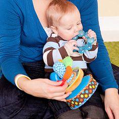 Activities to Boost Cognitive Development: 3-6 Months: Show Him New Textures (via Parents.com)