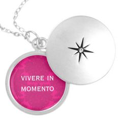 Latin #quote necklace    Live in the Moment