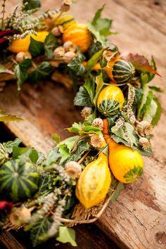 Podzimní věnec z dýní