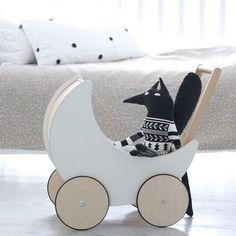 We are having guests from @mainsauvage and @littlelovedones over and they are ready for a spin in the toy pram.
