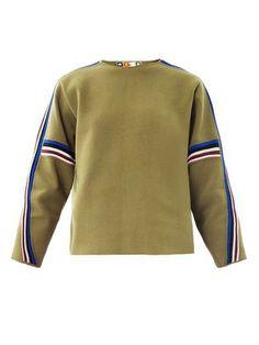 MSGM Striped-sleeve knit sweater